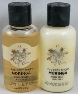 body shop moringa 60ml shower gel + body milk