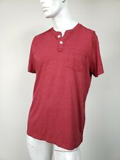 ABERCROMBIE & FITCH Moose Logo Pocket Henley T-Shirt Maroon XL NWT