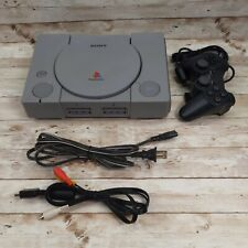 Sony PlayStation 1 Original Console PS1 Controller Power AV Cable Cleaned Tested