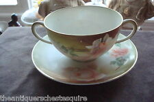 REINHOLD SCHLEGELMILCH - R.S. GERMANY-c1910s,cream/buillon cup/saucer[rs-1]