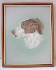 Gorgous Pastel Painting Springer Spaniel Dog Listed Artist Barbara Johansson