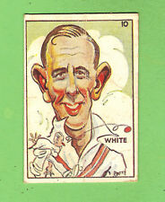 1938 SWEETACRES CRICKET CARIACTURE CARD #10. E. S. WHITE (NSW)