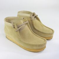 Clarks Originals Wallabee Womens Size 10 M Tan Suede Leather Crepe Chukka Shoes