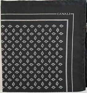 $95 🆕️ CANALI Italy 100% SILK JACQUARD Pocket Square Handkerchief