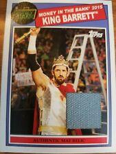 2015 Topps WWE Heritage King Barrett Money in the Bank Mat Relic