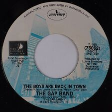 THE GAP BAND: The Boys Are Back in Town MERCURY DJ Soul 45 NM-