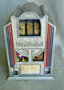 Wirlwind 3 reel fruit version  1933  Plays Well   org strips and card.