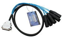 Elite Core 5' 25-pin D-Sub DB25 to 8 XLR Male 5ft Audio Cable Breakout Snake