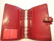 FILOFAX- CALF LEATHER PLANNER -VINTAGE- MADE IN ENGLAND- CLASSIC- MODEL 4CLF 7/8