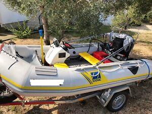 Motorboot Schlauchboot + 15PS + Trailer + Steuerstand + Winterplane  + + +   :-)