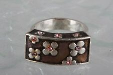 PILGRIM FLOWER BLOSSOMS RING SIZE 7 FASHION SIGNED 6894B