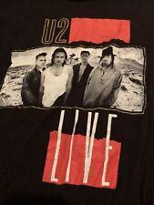 U2 T Shirt War Red Rocks Live Band Logo new Official Mens Vintage Black