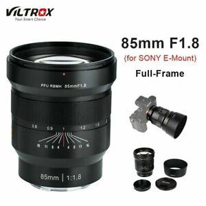 VILTROX 85mm F/1.8 Telephoto Full Frame Manual Focus Lens for Sony E Camera AU