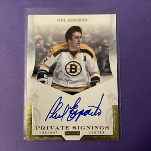 2011-2012 Panini Dominion Phil Esposito Private Signings