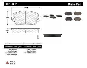 Disc Brake Pad Set-C-TEK Metallic Brake Pads-Preferred Front Centric 102.90020