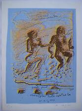 CARON PHILIPPE SÉRIGRAPHIE 1987 SIGNÉE CRAYON NUM200 HANDSIGNED SILKSCREEN ENSAD