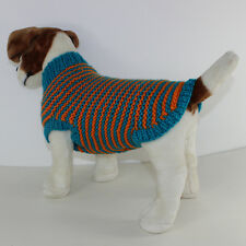 PRINTED INSTRUCTIONS - CHUNKY STRIPE GARTER STITCH DOG COAT KNITTING PATTERN