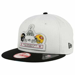Super Bowl XLVll Team Rival Ravens vs 49ers Snapback Flat Bill Brim Hat Cap Lid
