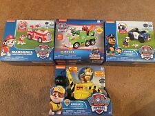 Paw Patrol VEHICLES Transforming  SET / LOT Of 4 NEW Marshall Chase Rocky Rubble