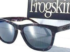 NEW* Oakley FROGSKINS Black Tortoise Marbled Black Iridium lens Sunglass 2043-08