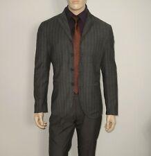 John Varvatos COLLECTION in GRAY Striped Peak Lapel 4 Btn Blazer Size 40 ITALY
