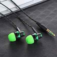 3.5mm In-Ear Stereo Headphone Earbuds Earphone Headset MIC green For cellphone