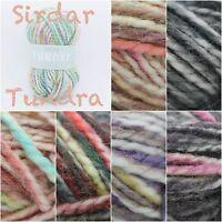 Sirdar Tundra Super Chunky Alpaca Acrylic Variegated Knitting Yarn Wool 100g