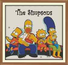 Simpsons cross stitch chart only 12.0 x 11.3 in (environ 28.70 cm)