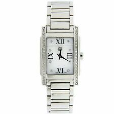 W458-  Ladies ESQ Steel Diamonds Dress Swiss Quartz Watch