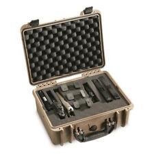 Lockable Handgun Carry Case Magazine Pistol Revolver Gun Waterproof Storage Box