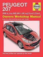 Peugeot 207 Haynes Car Manuals and Literature