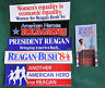 VINTAGE '84 REAGAN BUSH CAMPAIGN BUMPER STICKERS & LITERATURE MIX (Lot of Six)