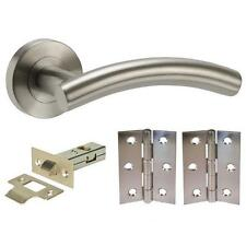 5 sets Arched lever furniture door handle pack internal latch hinges