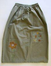 BLUE FISH Green Cotton Floral Skirt Sz M