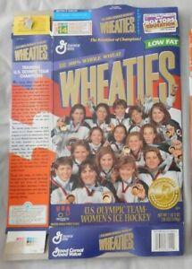 US Olympic Team Women's Ice Hockey  Wheaties Cereal Box