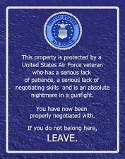 SN 014  U.S. Air Force Veteran warning sign