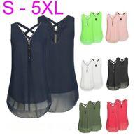 Chiffon Oberteil TOP Bluse V Ausschnitt Sommer T-Shirt Shirts 34-50 S-5XL BC510
