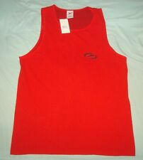 VTG 90s SPEEDO TANK TOP MUSCLE SHIRT RED MEDIUM USA GYM BEACH 80s FITNESS SURF