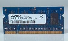 EBE11UE6AESA-8G-F Elpida Laptop Sodimm RAM Memory 1GB DDR2 PC2-6400S-666 12-A0