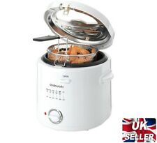 new Cookworks Simple Compact Deep Fat Fryer with Window 1.5L White