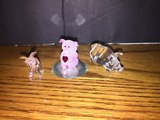 Glass Baron Pig with 2 other glass pigs Miniature Figurines