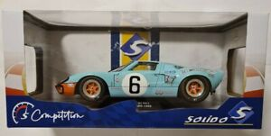 SOLIDO 1/18 #6 FORD GT40 MK1 24H LE MANS 1969 WINNER GULF LIVERY COLLECTABLE