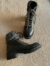 Ladies Size 5 Faux Leather Boots Atmosphere Worn Twice Black