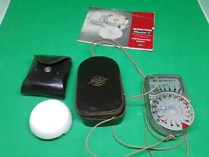 Western Master V exposure meter and Invercone with cases and instructions.