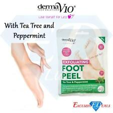 Derma V10 Exfoliating Foot Peel Sock Mask Baby Soft Feet Removes Dead Skin