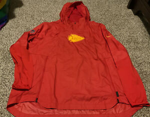 Nike Kansas City Chiefs Repel Windbreaker Hoodie Waterproof Men's Size: 2XL NWOT