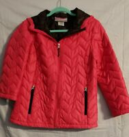 Women's Free Country Hooded Packable Down Jacket Coat Size Small Pink Quilted