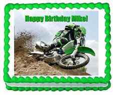 Custom cake topper Motocross Dirtbike frosting sheet personalized icing image