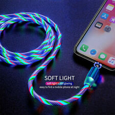 3 in 1 LED Flowing Light Fast charging Cable Magnetic Cable USB Data Cable USA