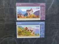 2017 LIECHTENSTEIN PALACE & CASTLES SET OF 2 MINT STAMPS MNH